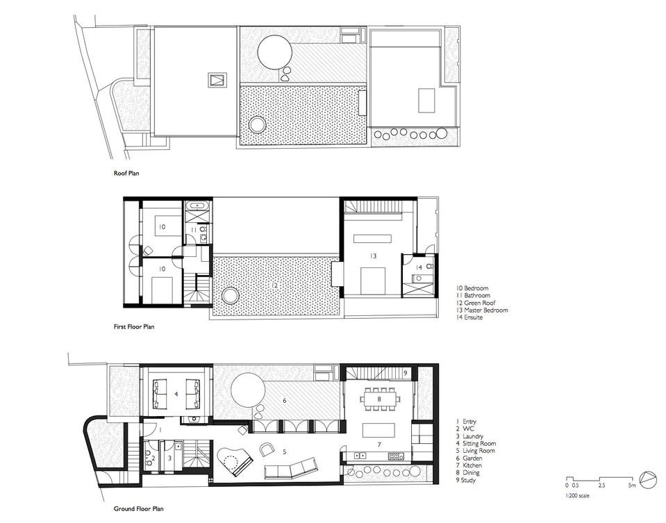 courtyard house plan 1