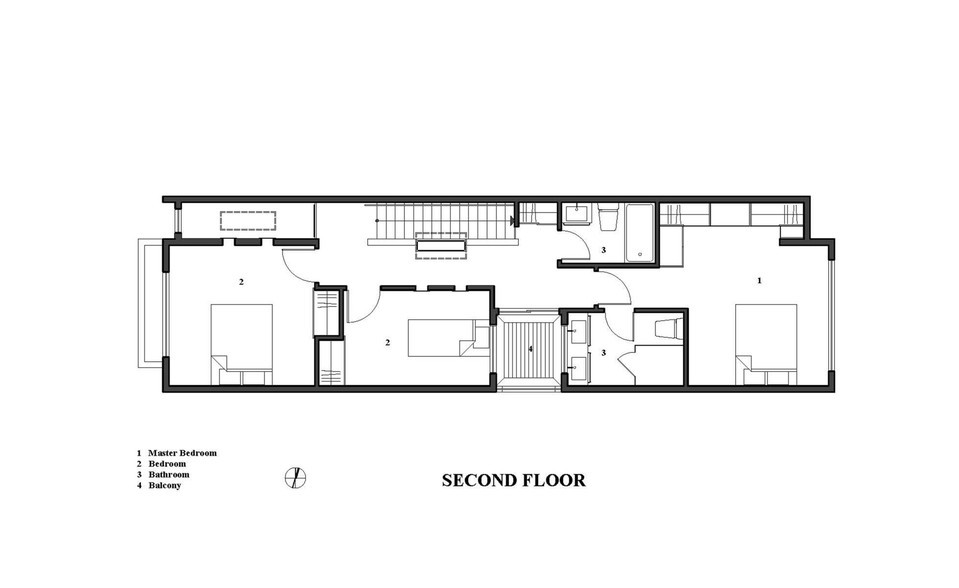 the linear house plan 3